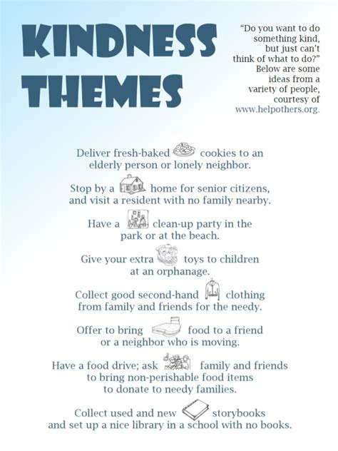 exles of themes in children s stories kindness themes