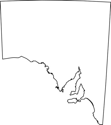 Blank Outline Map South Australia australian maps clip at clker vector clip royalty free domain