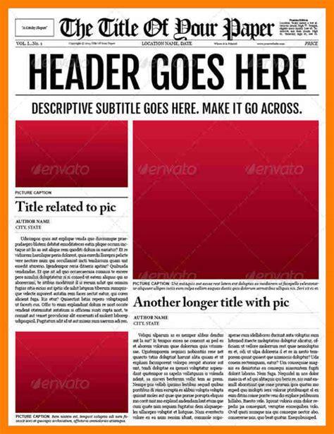 6 newspaper template for word attendance sheet