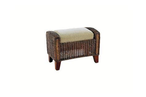 wicker footstools ottomans grove wicker cane rattan conservatory furniture footstool