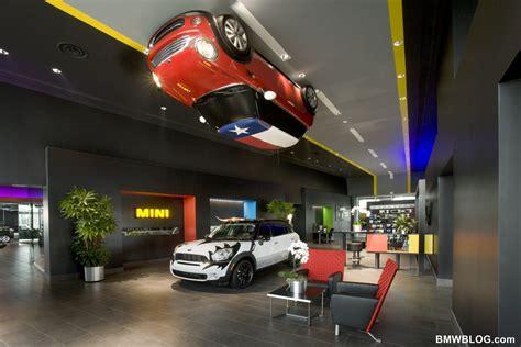 bmw dealership design dedicated mini dealership features dramatic design and fun