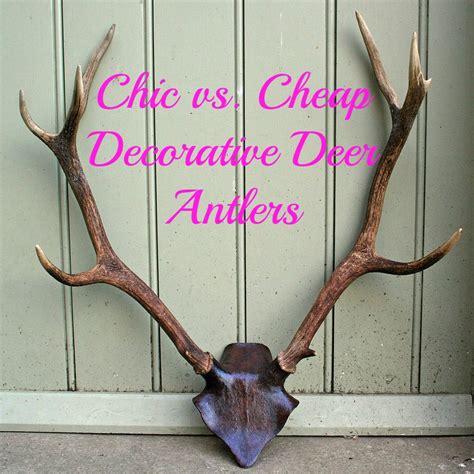 chic vs cheap deer antler heads chic living