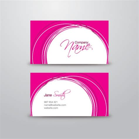 pink business card template psd file free