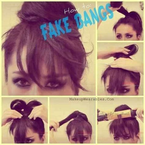 how to create fake bang how to make fake bangs new hair style or color pinterest