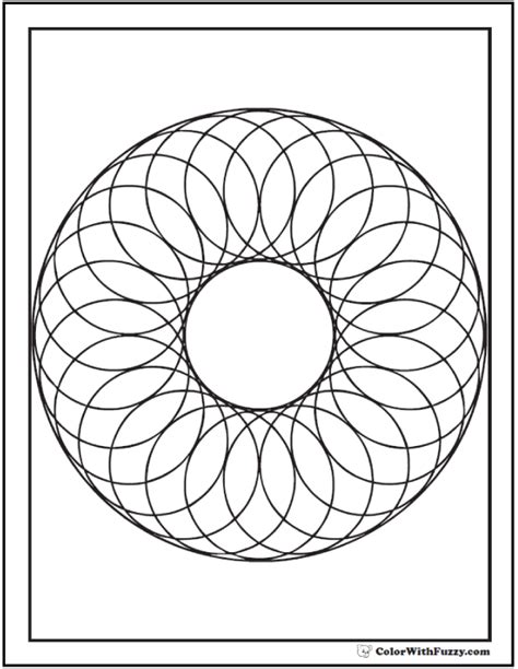 geometric designs using circles 70 geometric coloring pages to print and customize