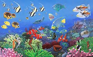 Pin Under The Sea Wall Murals Under The Sea Wallpaper Mural Wallpaper