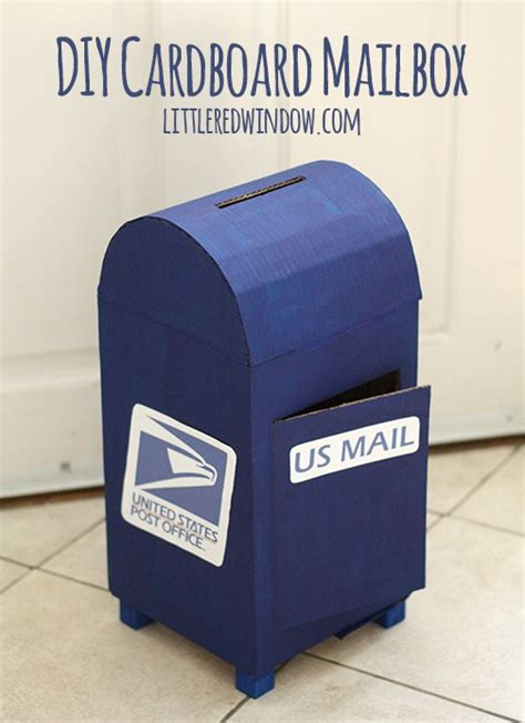 How To Make A Post Box Out Of Paper - diy cardboard play mailbox window