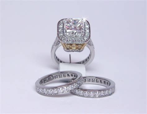 engagement ring with eternity bands exclusive jewelry