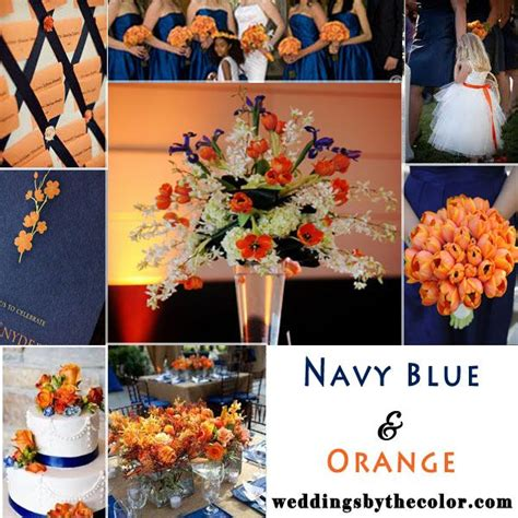 navy blue and orange wedding inspiration board wedding stuff inspiration boards