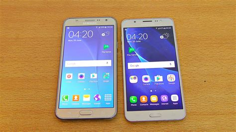 Verus Samsung J7 2016 samsung galaxy j7 2016 vs j7 2015 review test