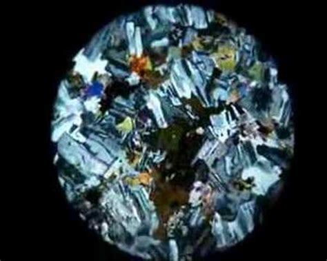 diorite thin section petrology d diorite cross polairsed youtube