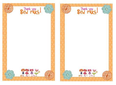 Free Printable Lalaloopsy Thank You Cards | home confetti free printable lalaloopsy thank you card