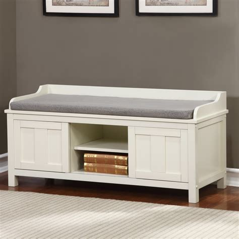 storage bench for entryway breakwater bay maysville wood storage entryway bench