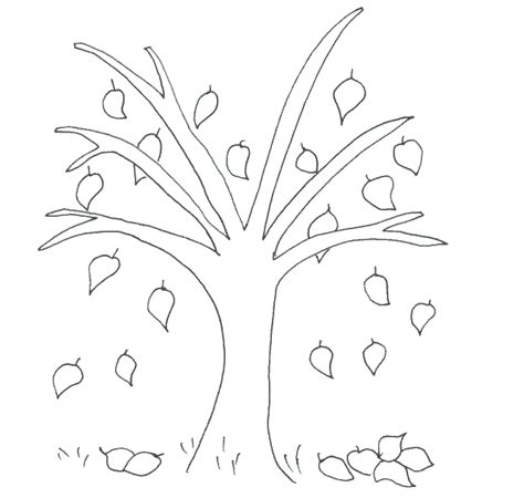 fall trees coloring page trees to color coloring pages