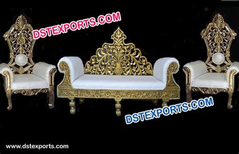 wedding stage sofa set chairs for groom