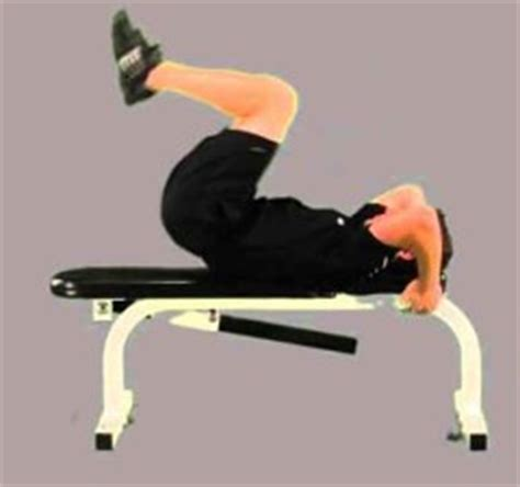 incline bench reverse crunches crunches muscleseek