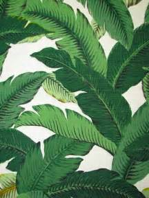 Hawaiian Print Upholstery Fabric Palm Leaf Fabric