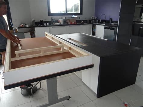 ilot de cuisine leroy merlin table coulissante sous plan travail obasinc com