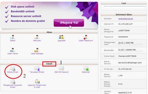 membuat email nama membuat custom email dengan nama domain sendiri