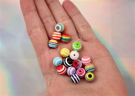 New Arrival Grab Bag Set Harga 2 Pcs 1 Set Isi 2 Tas Belanja Shopping 10mm striped resin mixed color small size