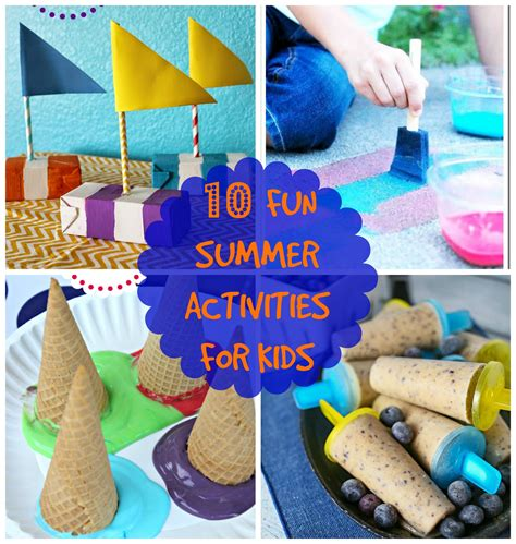 10 Summer Activities by 10 Summer Activities For Canary Crafts