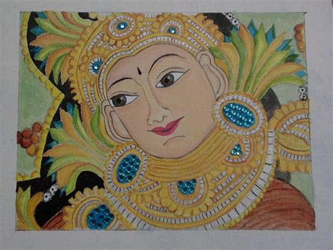 free painting for 2 kerala mural design painted with artists acrylic colours