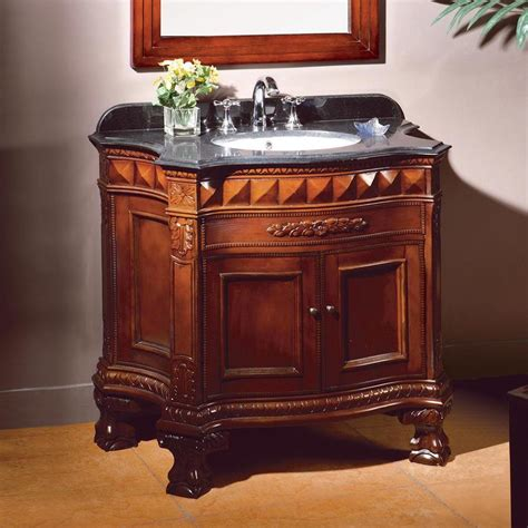 granite top vanities for bathrooms shop ove decors buckingham dark cherry undermount single