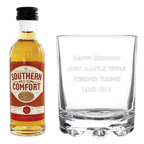 southern comfort boutique personalised southern comfort glass miniature set the