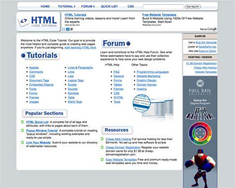 tutorial on html coding a diy web design education noupe
