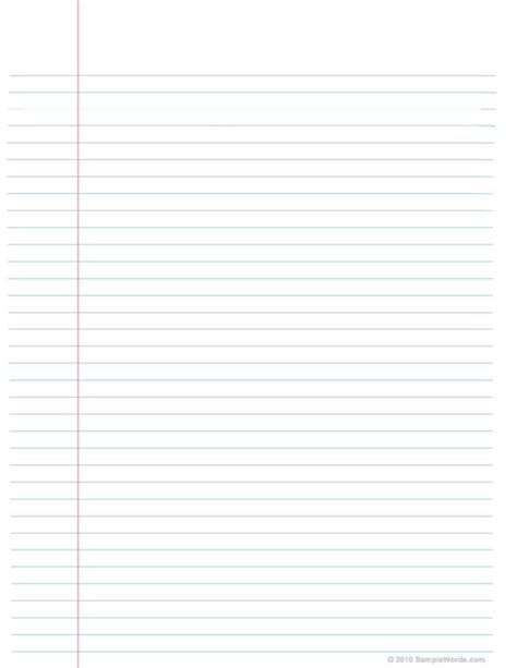 lined paper template for word 2010 notebook paper template for word 2010