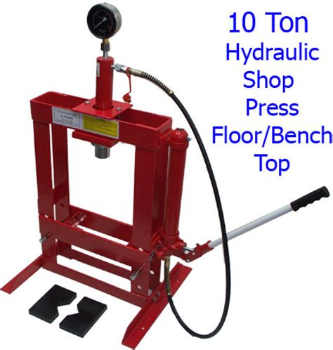 1 Ton Hydraulic Floor Press by 10 Ton Hydraulic Shop Press W Floor Bench Top Press