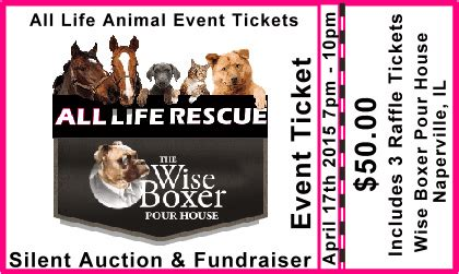 wise boxer pour house all life event tickets wise boxer pour house silent auction
