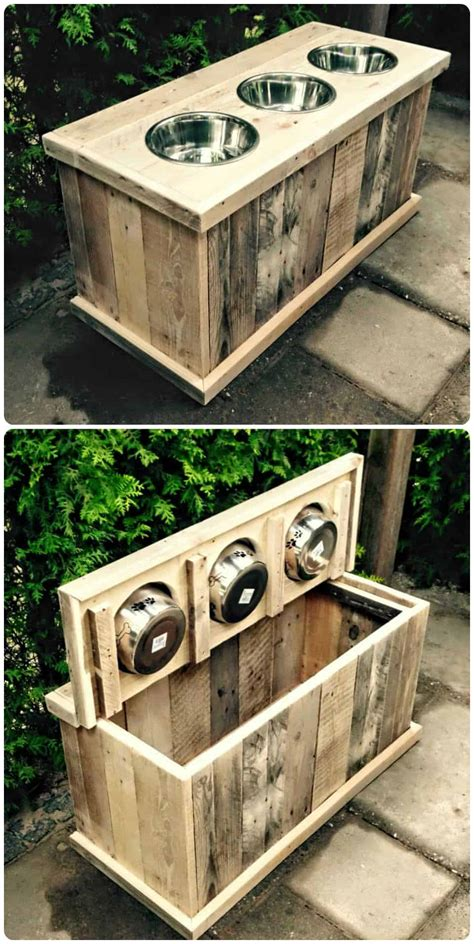 pallet dog feeder storage    time  pallets