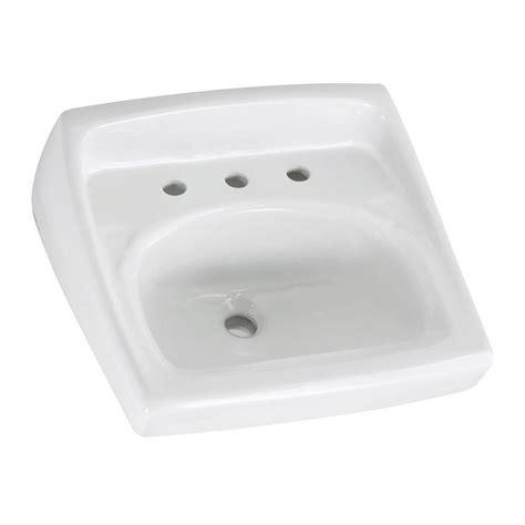 standard wall hung sink standard lucerne wall hung bathroom sink in white