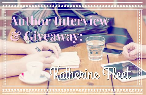 Author Giveaways - author interview giveaway katherine fleet will bake for books