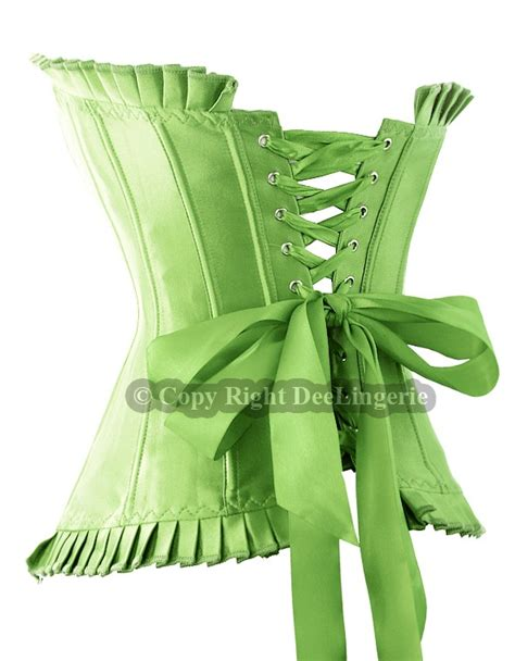 Ribbon Lace Skirt S M L Green Black Coffee Apricot 31289 burlesque lace up corset bustier size s m l xl ebay