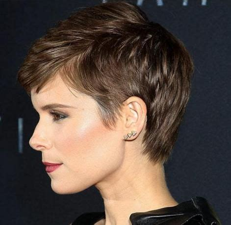 side and front view short pixie haircuts pixie side view pinteres
