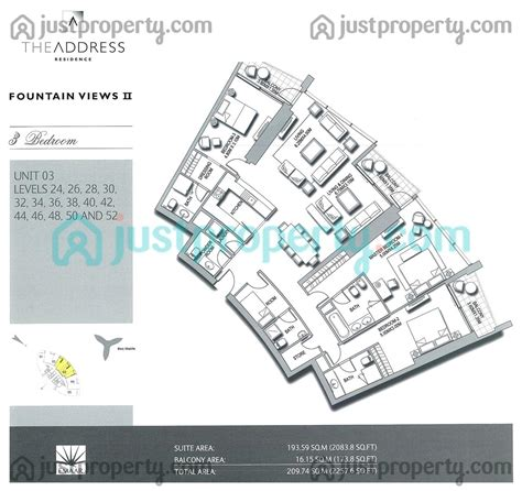 floor plans by address address fountain views 2 floor plans justproperty com
