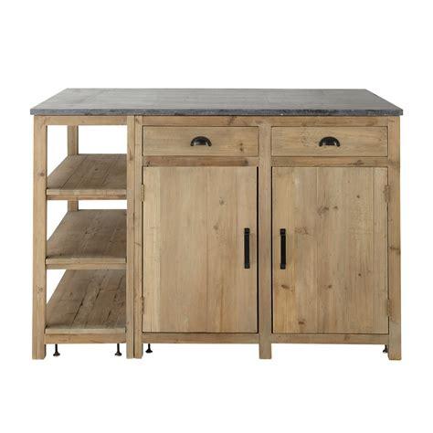 meuble de cuisine ind駱endant 206 lot central en bois recycl 233 l 145 cm pagnol maisons du