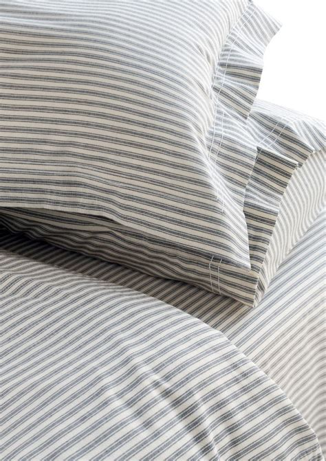 striped bed sheets ticking duvet cover attic room pinterest
