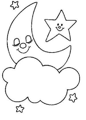 dibujos de estrellas  colorear  pintar