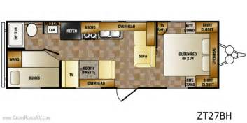 Zinger Travel Trailers Floor Plans by Crossroads Zinger 27bh Bunkhouse Camper All About Campers