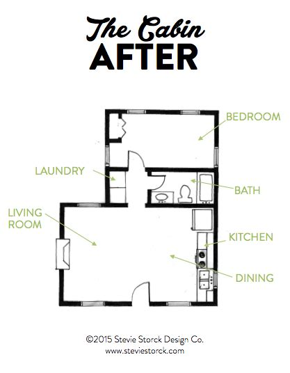 floor plan after new square space kitchen is a food hub the cabin making the best use of limited square footage
