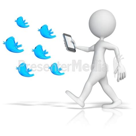 Following Tweets Presentation Clipart Great Clipart For Presentations Www Presentermedia Com Presenter Medi