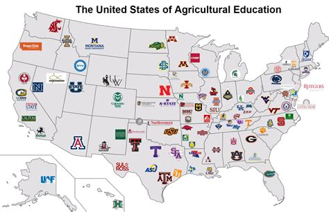united states agriculture map national teach ag caign find a college national