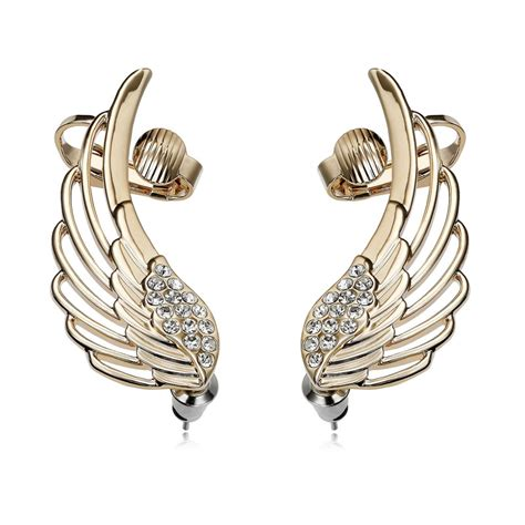 ear cuff jewelry wing ear wrap pin cuff earrings ear clip gold tone sweep ebay