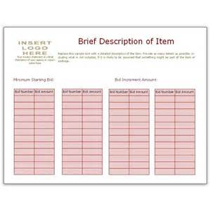 Auction Bid Sheet Template Free by Free Bid Sheet Template Collection Downloads For Ms Publisher
