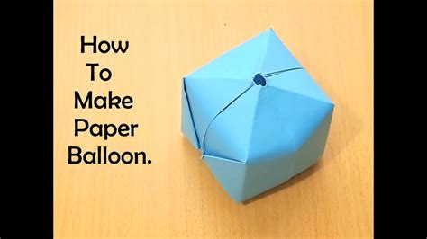 tutorial origami balloon how to make origami balloon youtube