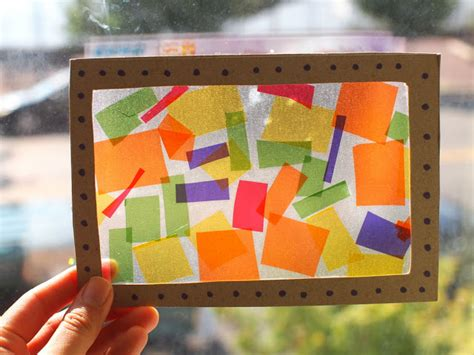 How To Make A Paper Window - contact paper and cellophane stained glass windows pink