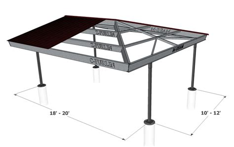 Hip Roof Carport Plans hip roof carport plans plans carport attached storage shed plans 8x10 free